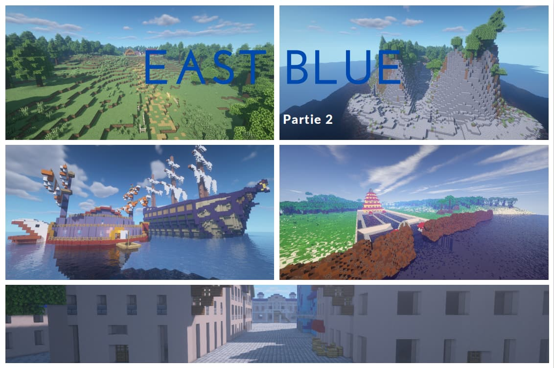East Blue map minecraft one piece