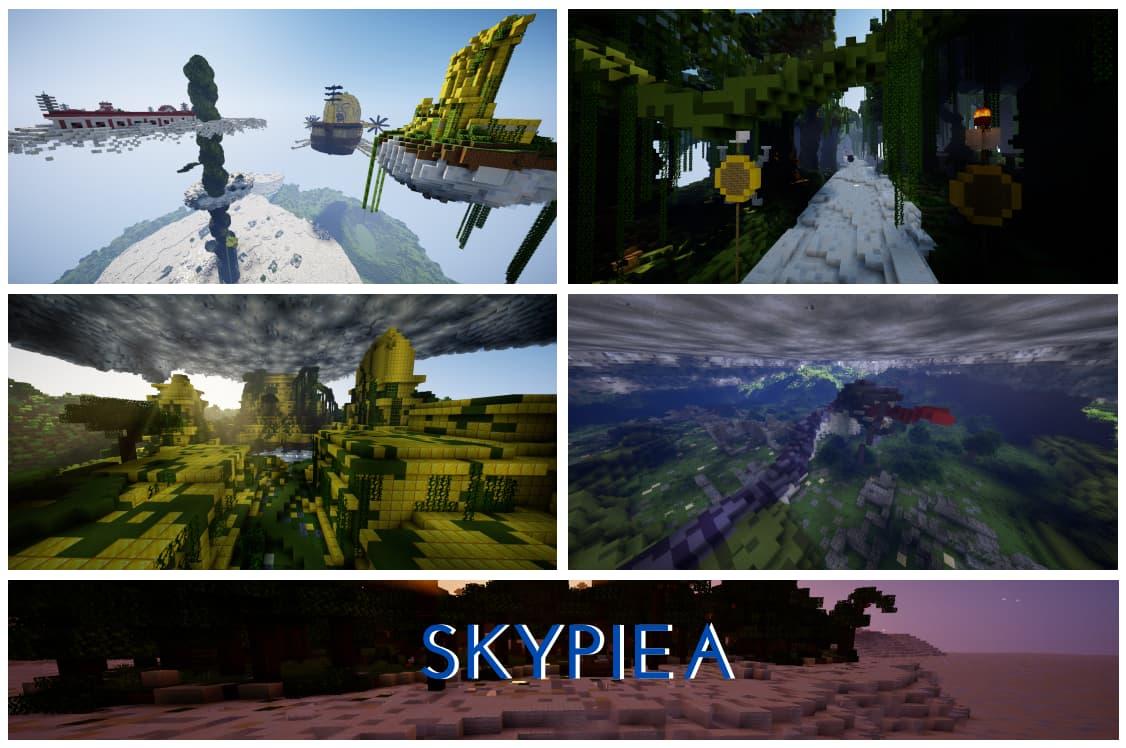 Skypiea map minecraft one piece