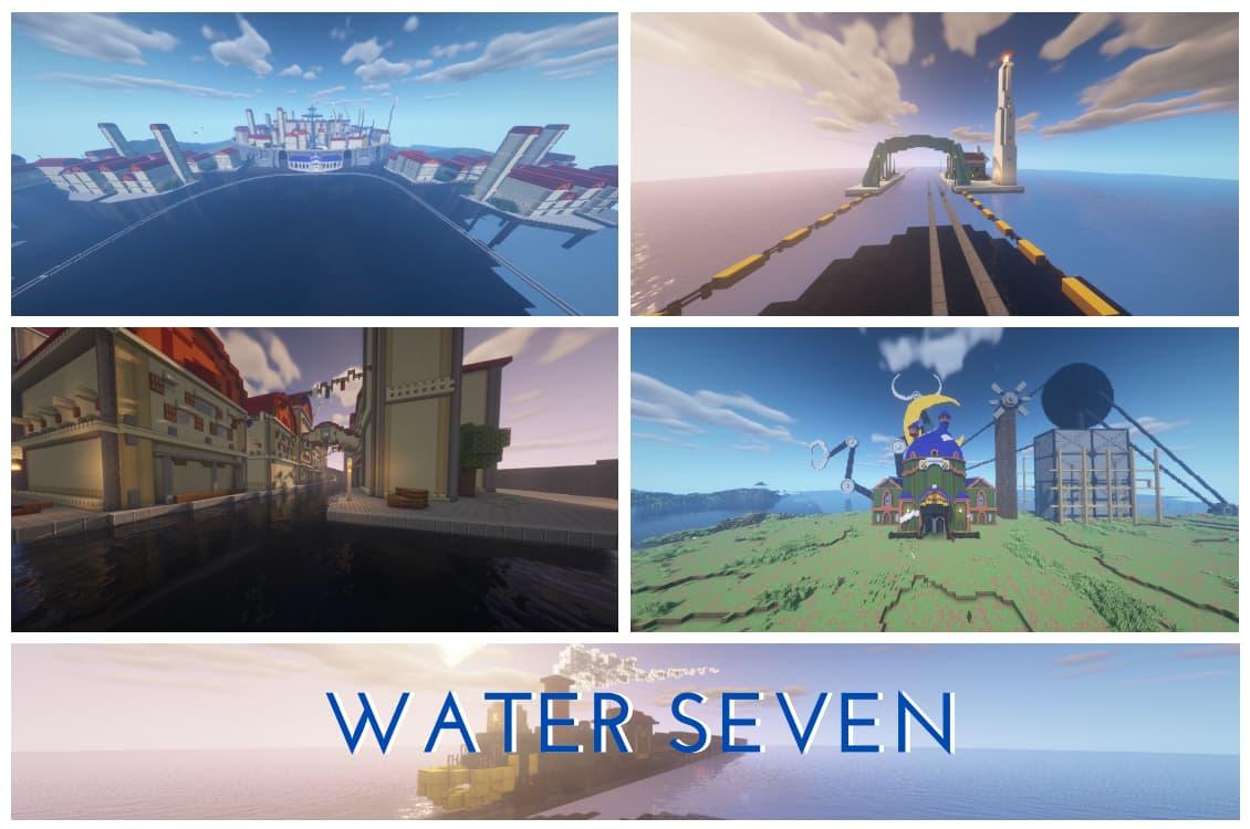 Water Seven map minecraft one piece