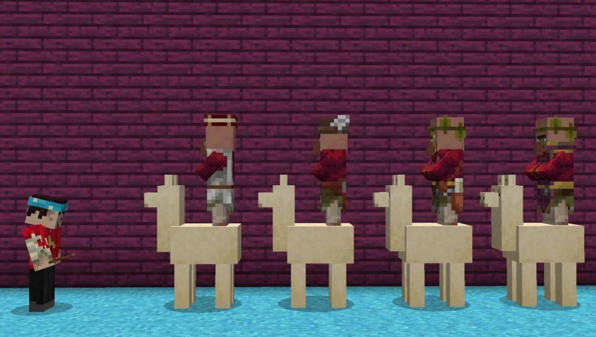 Le lama pour transporter des entités