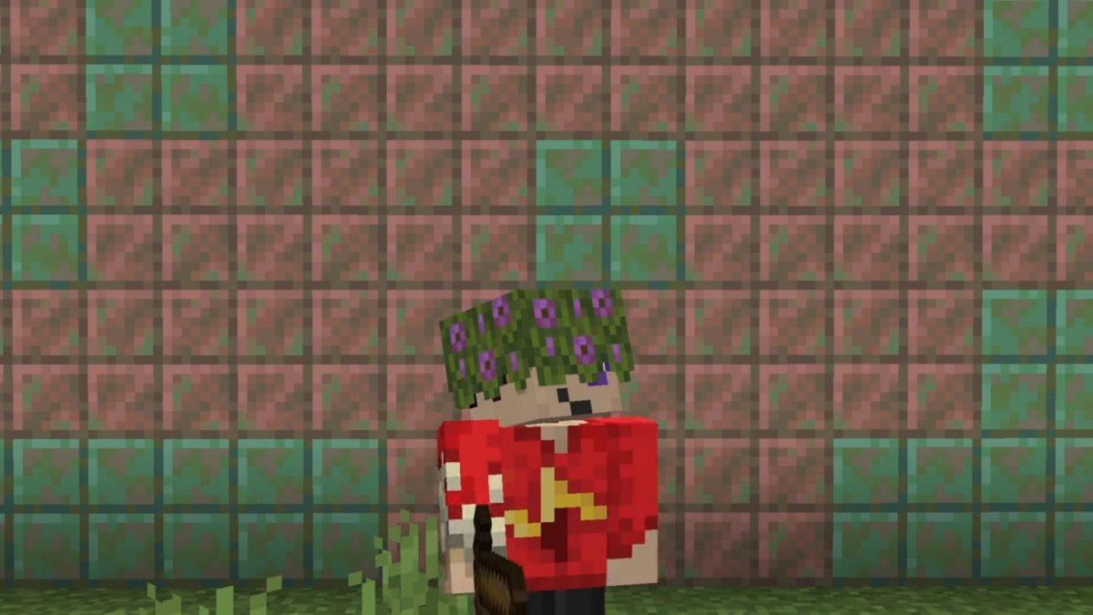 Minecraft 1.17 décoration : chapeau azalea