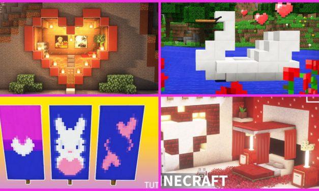 10 astuces de builds / décoration pour la Saint Valentin dans Minecraft