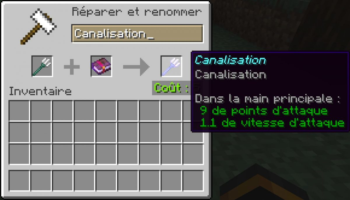canalisation enchantement minecraft