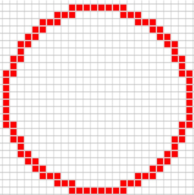 Cercle minecraft fin 25 par 25