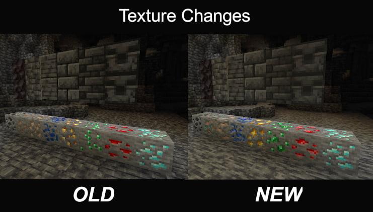 Comparaison nouvelles texture minecraft