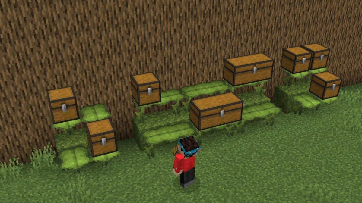 Minecraft 1.17 décoration : rangement coffre dripleaf