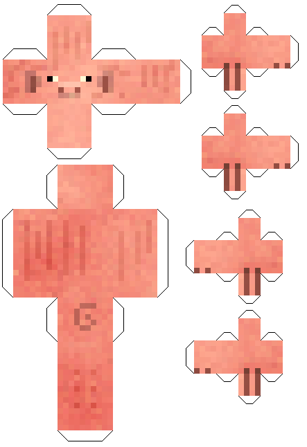 papercraft minecraft cochon