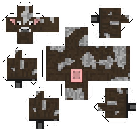 papercraft minecraft vache
