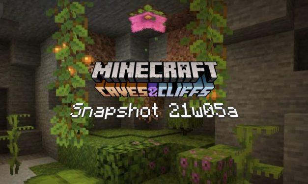 Snapshot 21w05a/b – Minecraft 1.17 : de nouvelles plantes pour les caves