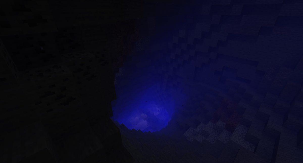 Une grotte innondée