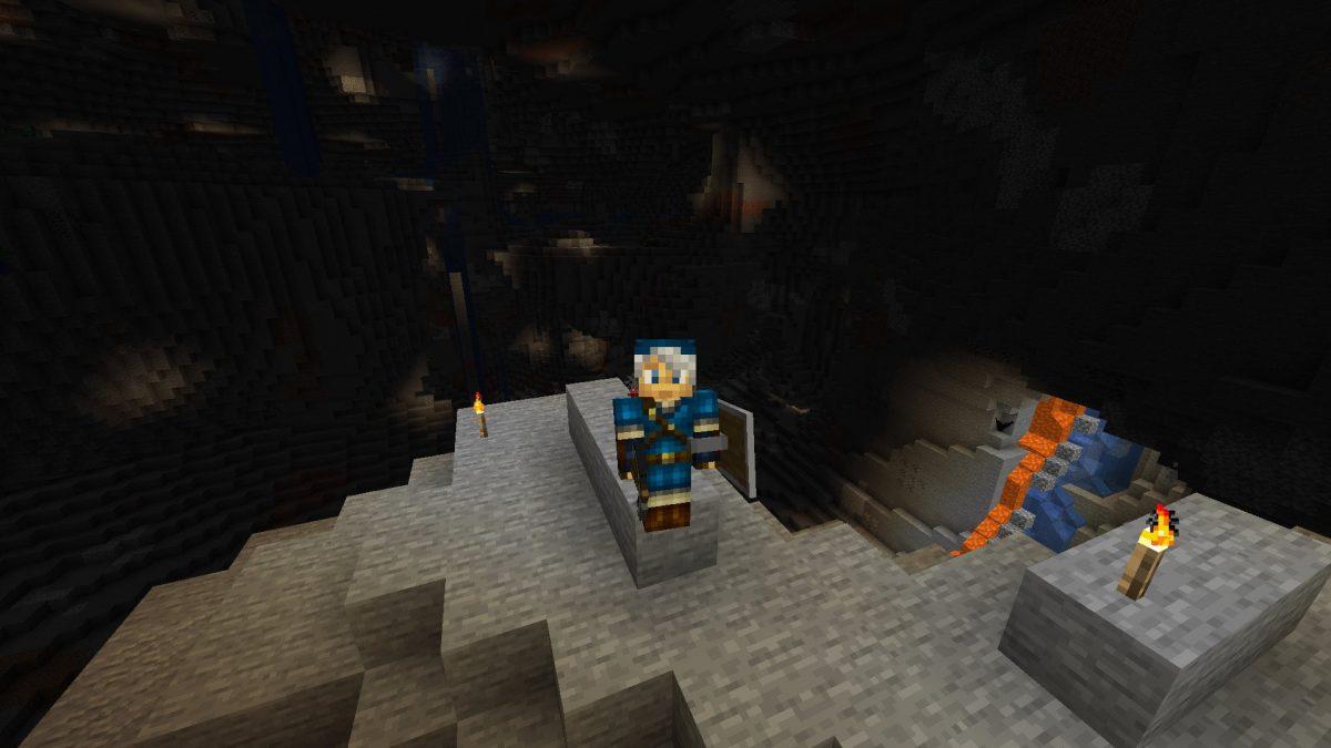 Une nouvelle caverne dans Minecraft 1.17