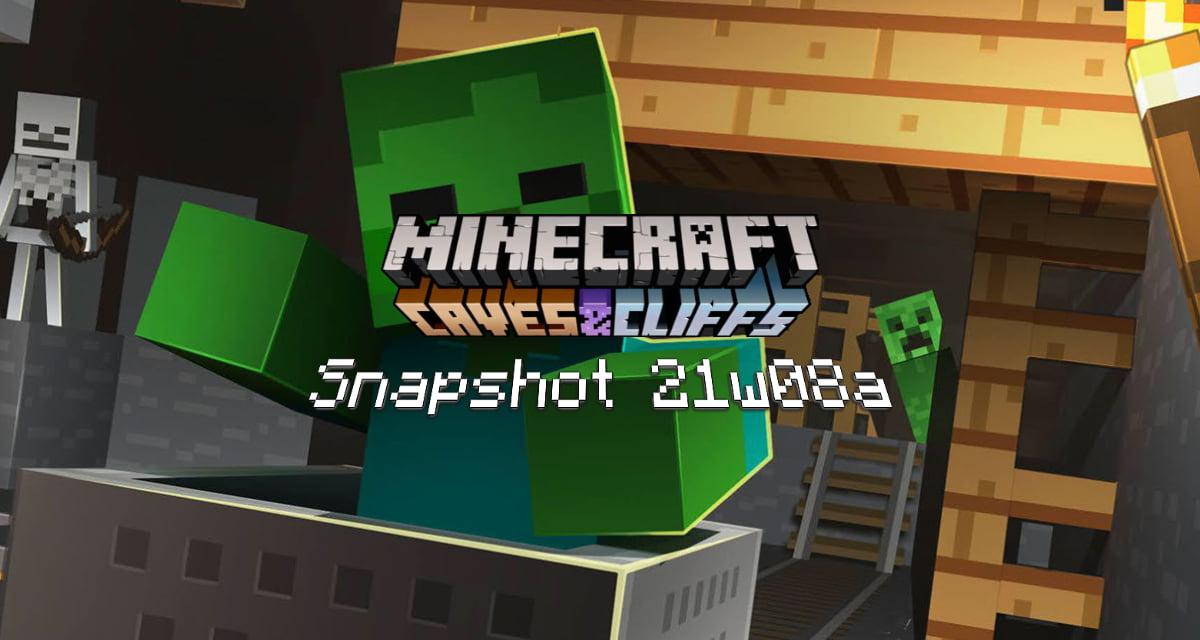 Snapshot 21w08b – Minecraft 1.17 : nouvelle génération et nouveau design des minerais
