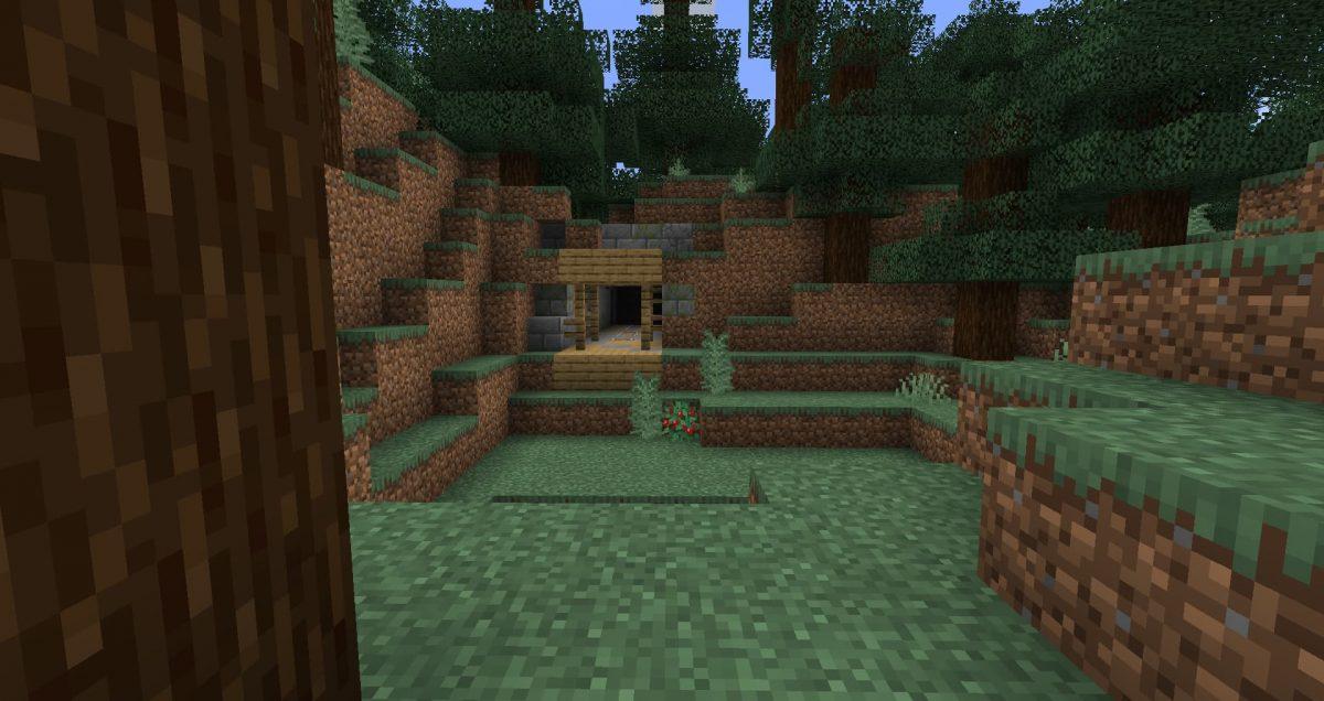 Entrée de surface d'un Mineshafts