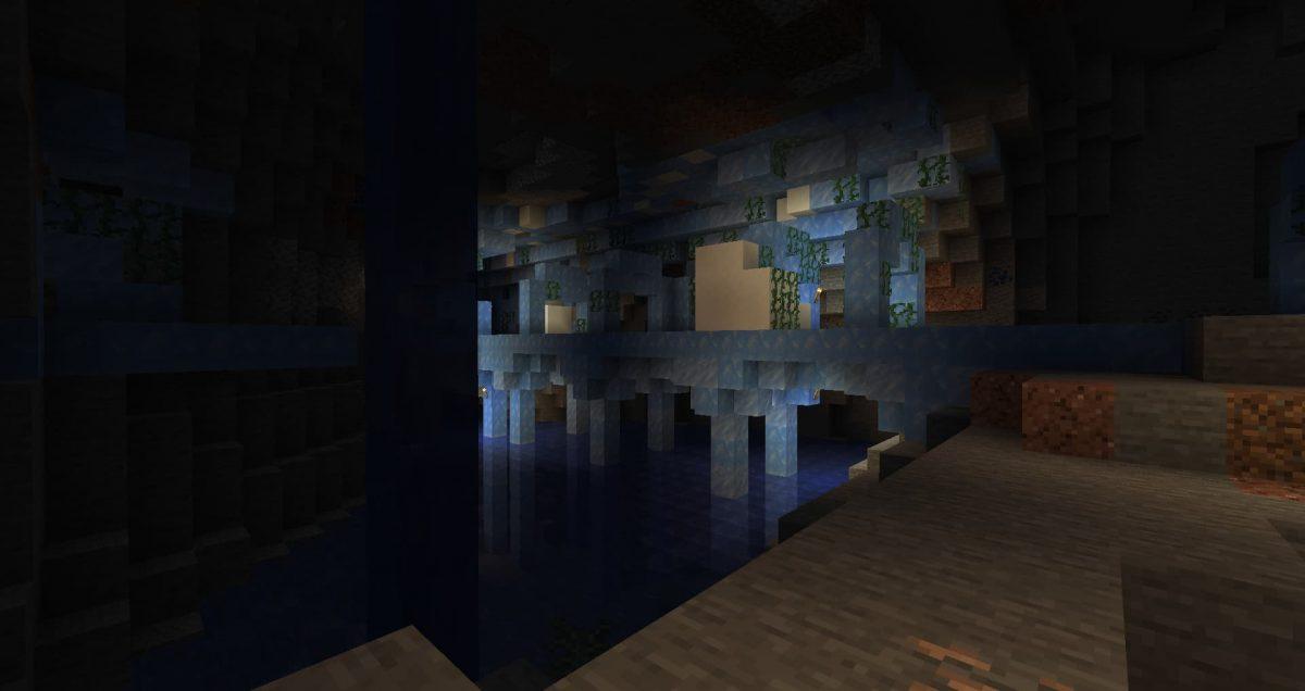 Un puits de mine de glace dans une caverne de meilleure qualité