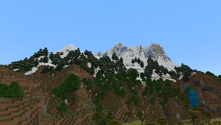 Nouvelle montagne minecraft beta 1.17