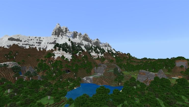 Nouvelle montagne minecraft beta 1.17Nouvelle montagne minecraft beta 1.17