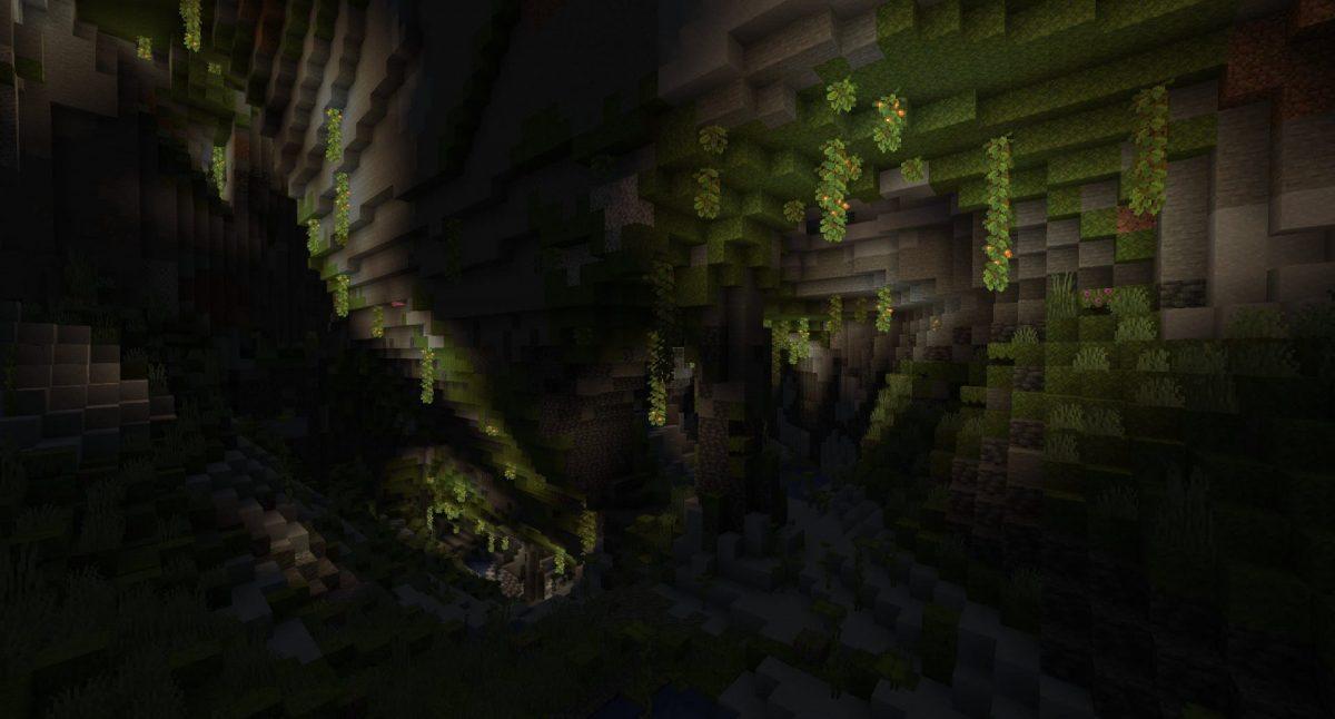 cave luxuriante minecraft