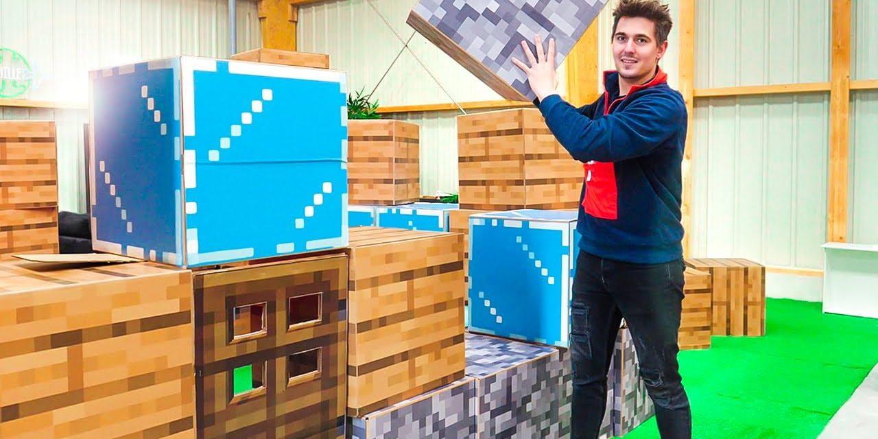 Construire une maison Minecraft dans la vraie vie