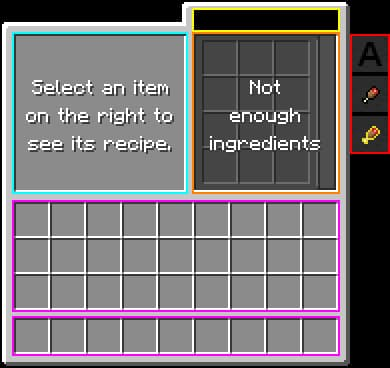 interface plan de travail cooking for blockheads