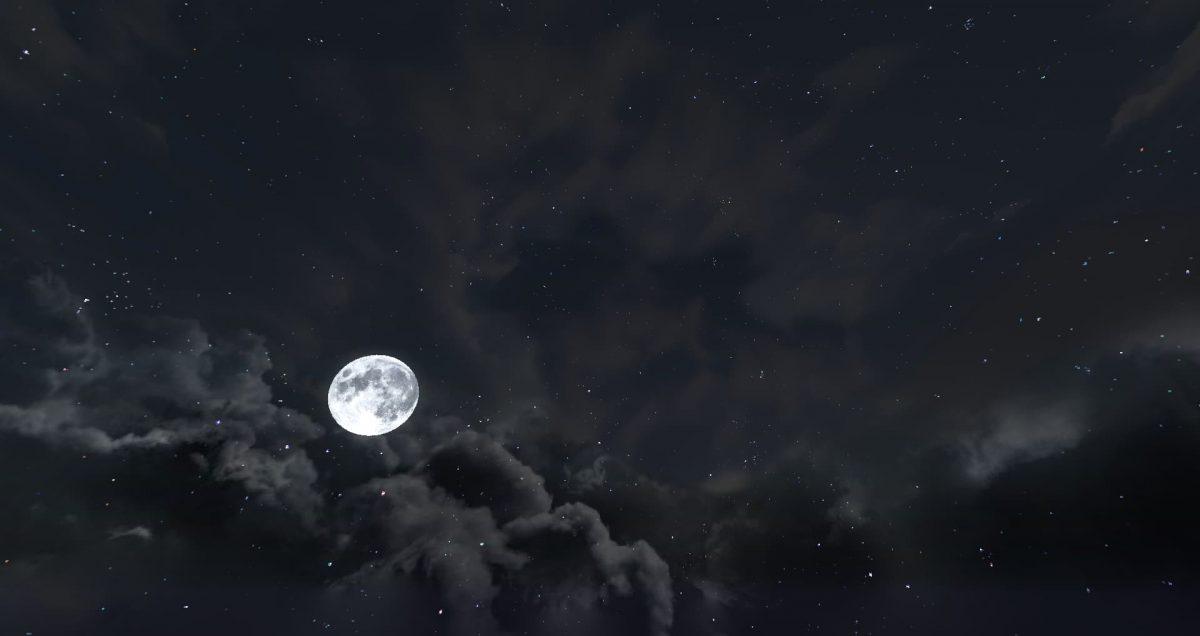 Dramatic Skys nuit lune