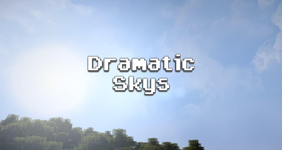 Dramatic Skys – Pack de Texture – 1.8 → 1.17