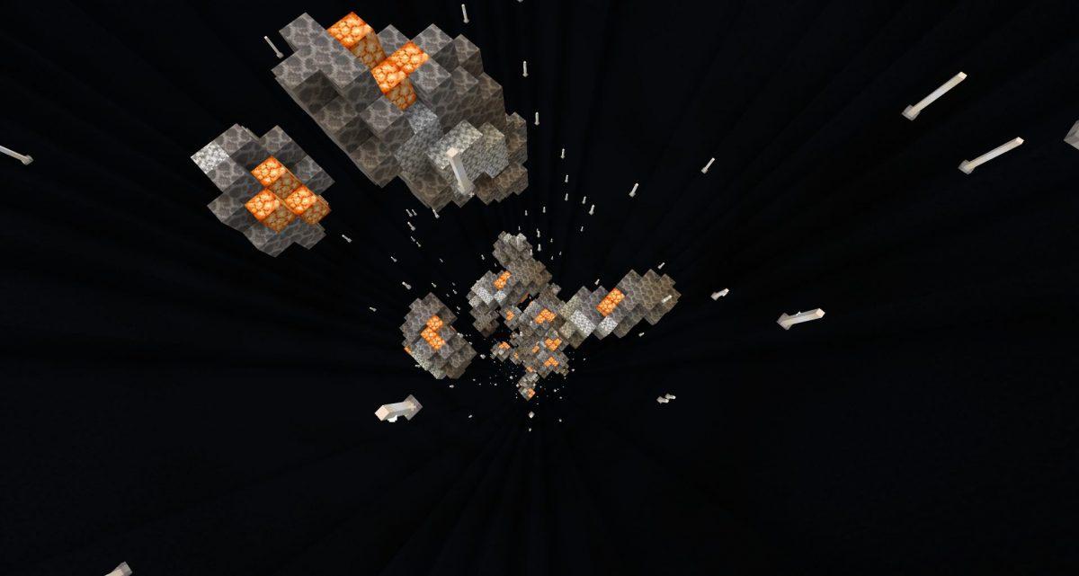 La dropper avec les astéroïdes
