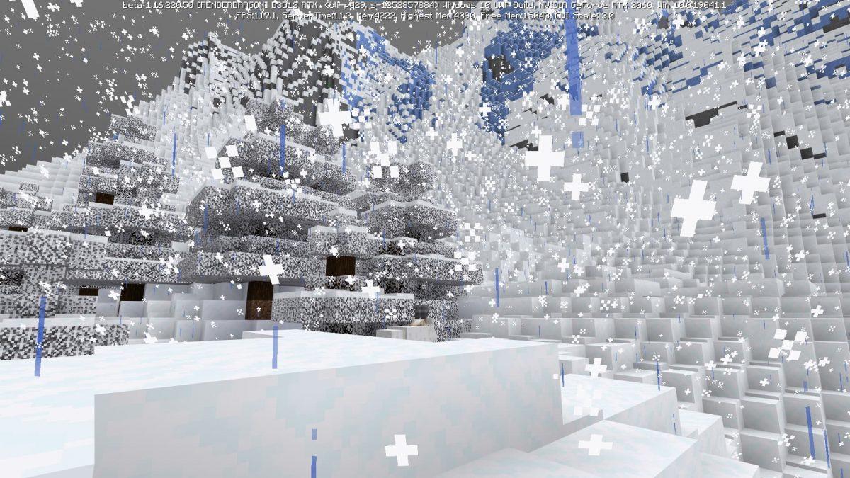 Nouvelle montagne minecraft beta 1.17 neige