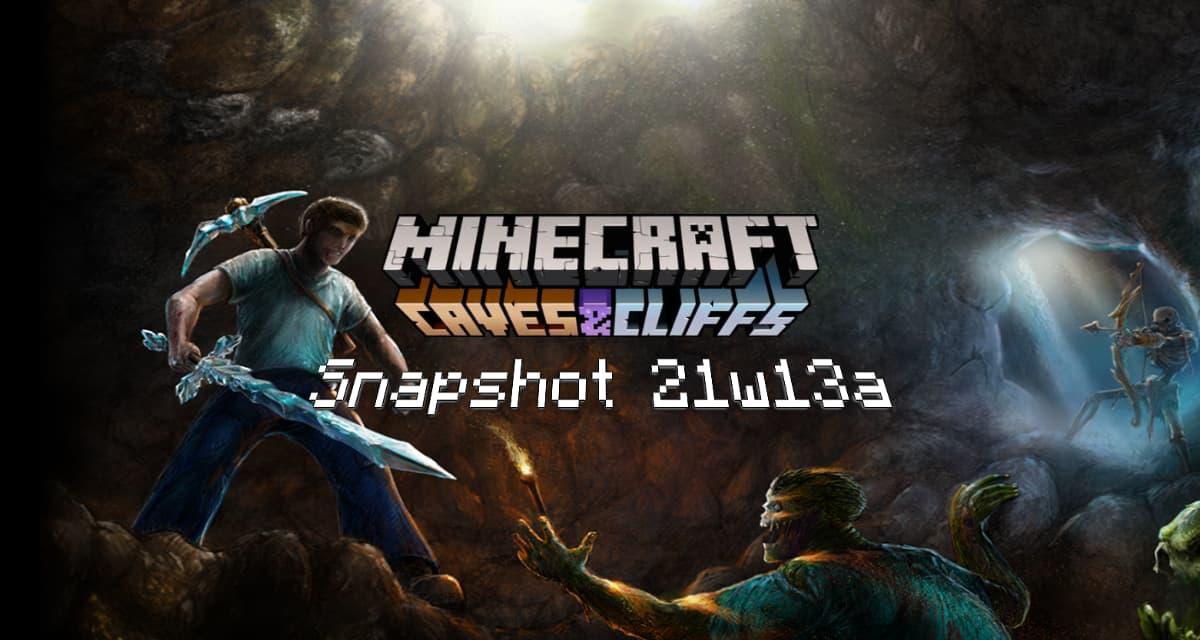 Snapshot 21w13a – Minecraft 1.17 : les chèvres dans la version Java