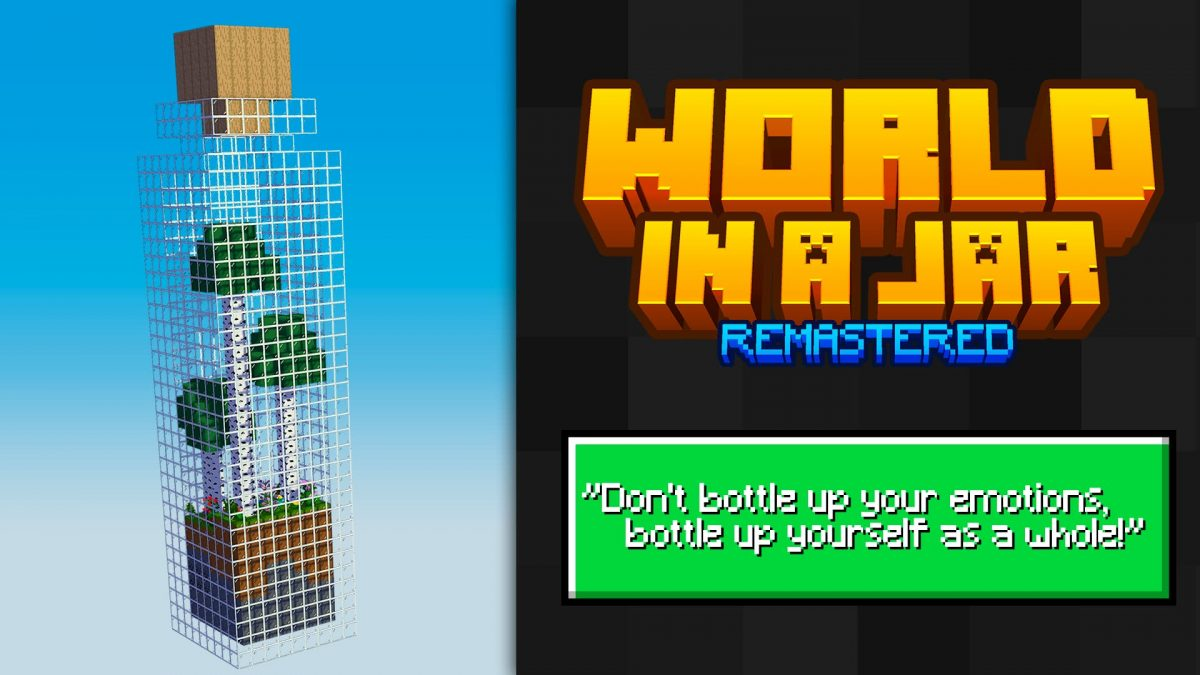 world in a jar map minecraft remastered