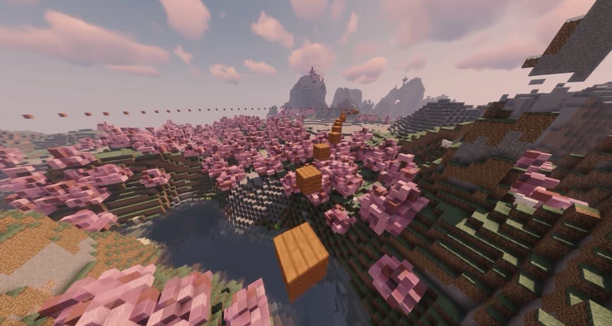 1 heure et 20 minutes de parkour relaxant dans Minecraft