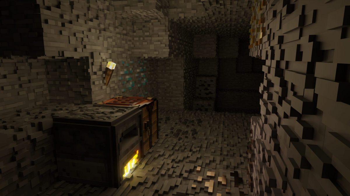 fond d'ecran minecraft cave
