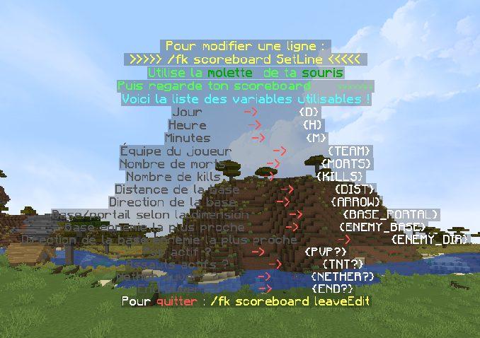 Scoreboard Fallen Kingdom Minecraft