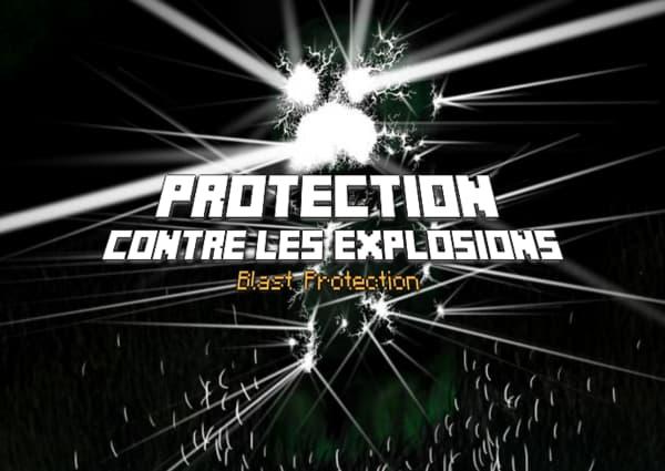 Protection contre les explosions / Blast protection – Enchantement Minecraft
