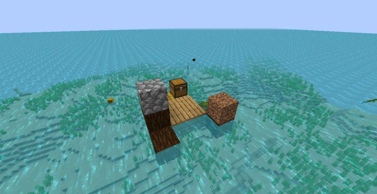raft map minecraft survie