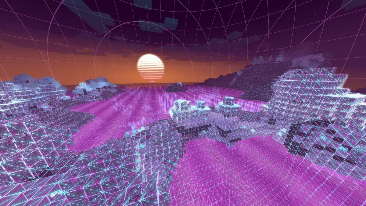 shader minecraft vaporwave