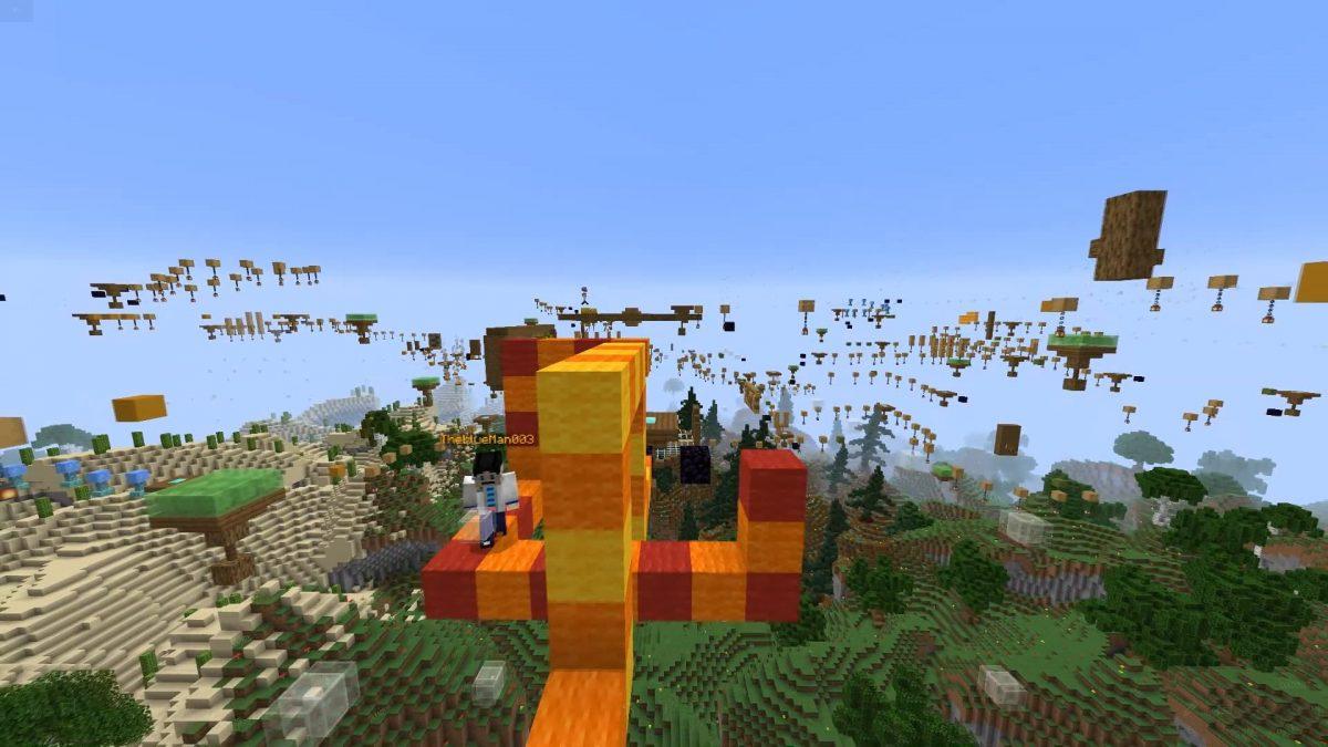 snake jump map minecraft parkour serpent jaune