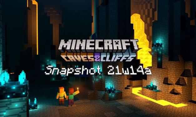 Snapshot 21w14a – Minecraft 1.17 : nouveau minerai brut