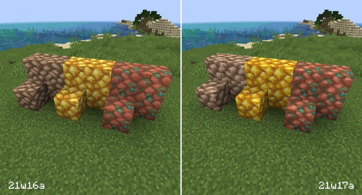 Nouvelles textures des minerais bruts