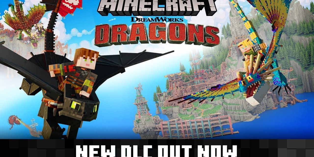 Un DLC du film «Dragons» de Dreamworks dans Minecraft Bedrock