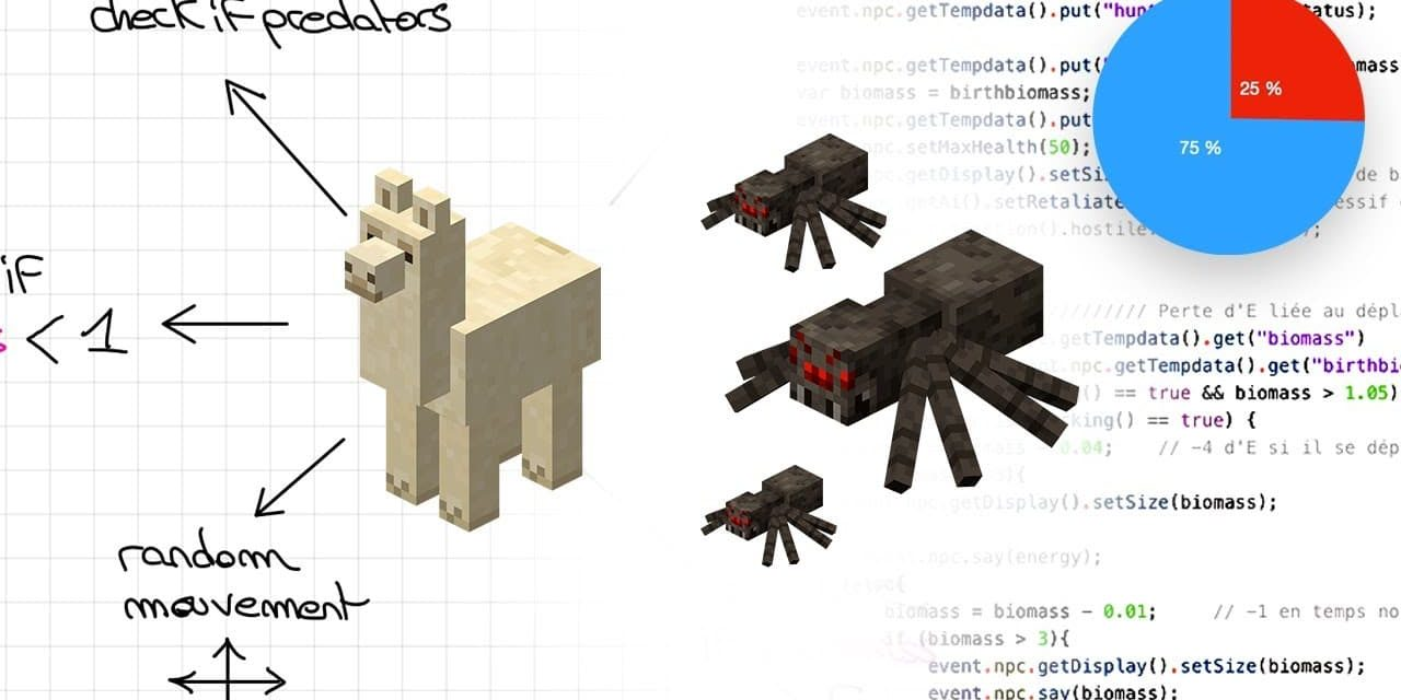 Simulation d'un biotope dans Minecraft