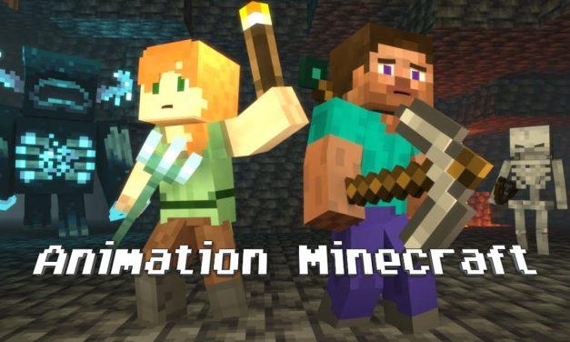 Animation Minecraft Caves & Cliffs : La vie d'Alex et Steve