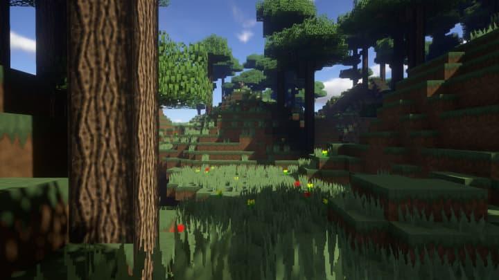 Forêt avec le pack Architexture Realism