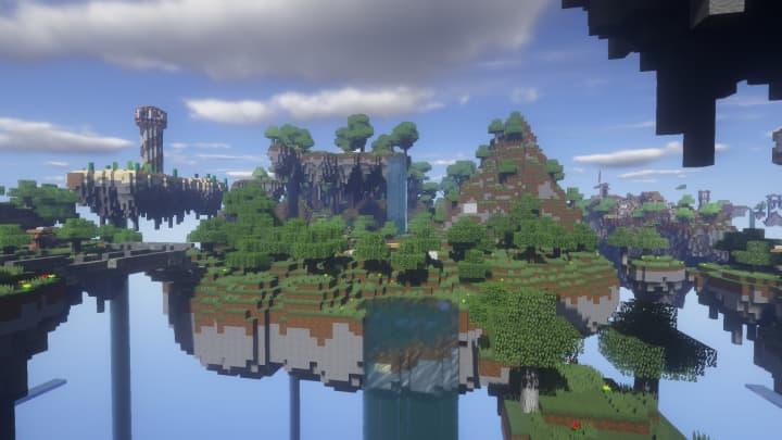 Îles volantes avec Architexture Realism