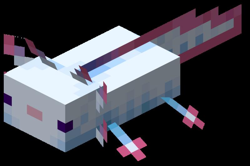 axolotl cyan minecraft