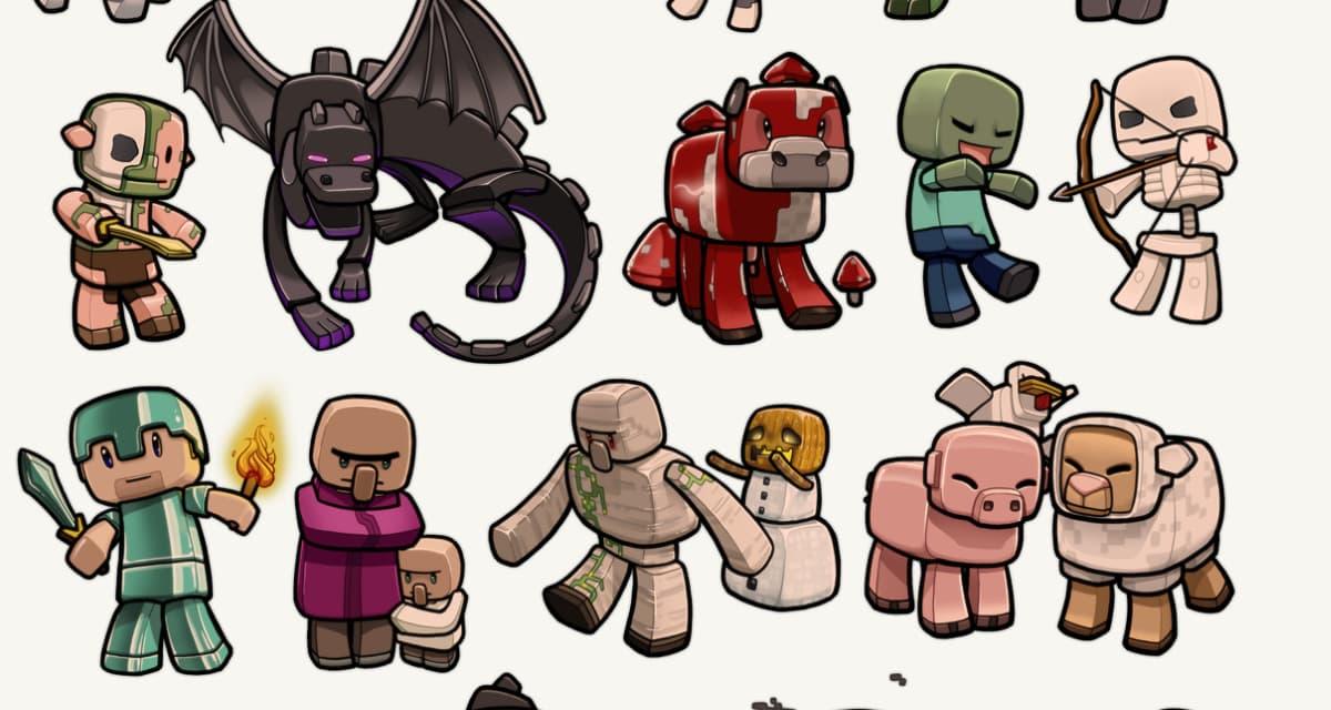 Les créatures / Monstres / Mobs de Minecraft