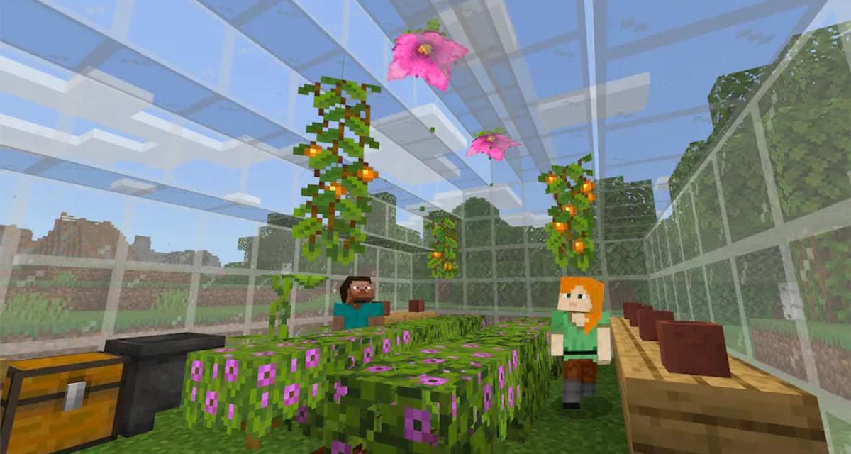 Feuilles d'azalée en fleurs