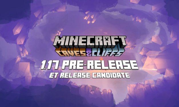 Minecraft 1.17 – Releases Candidates 1-2 (& pre-releases) : nouveaux progrès et bugs corrigés