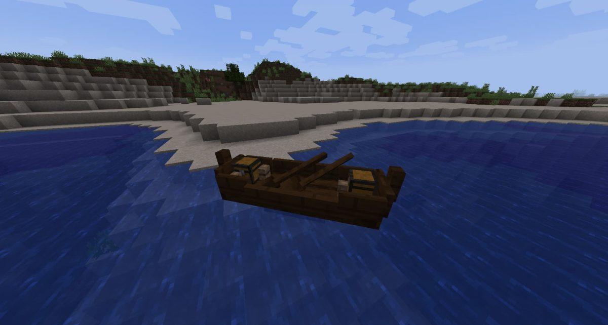 Canot à rames du mod Small Ships