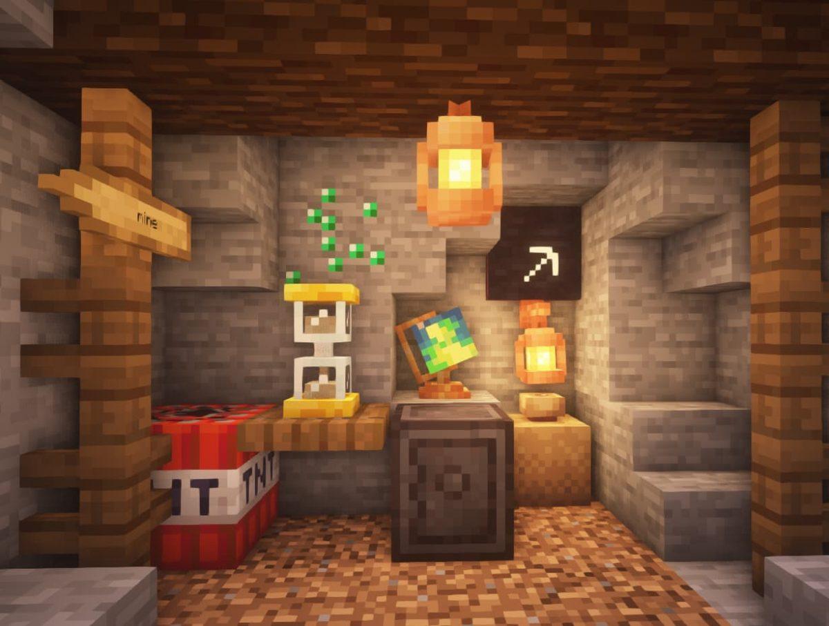 Mine décorée avec Supplementaries