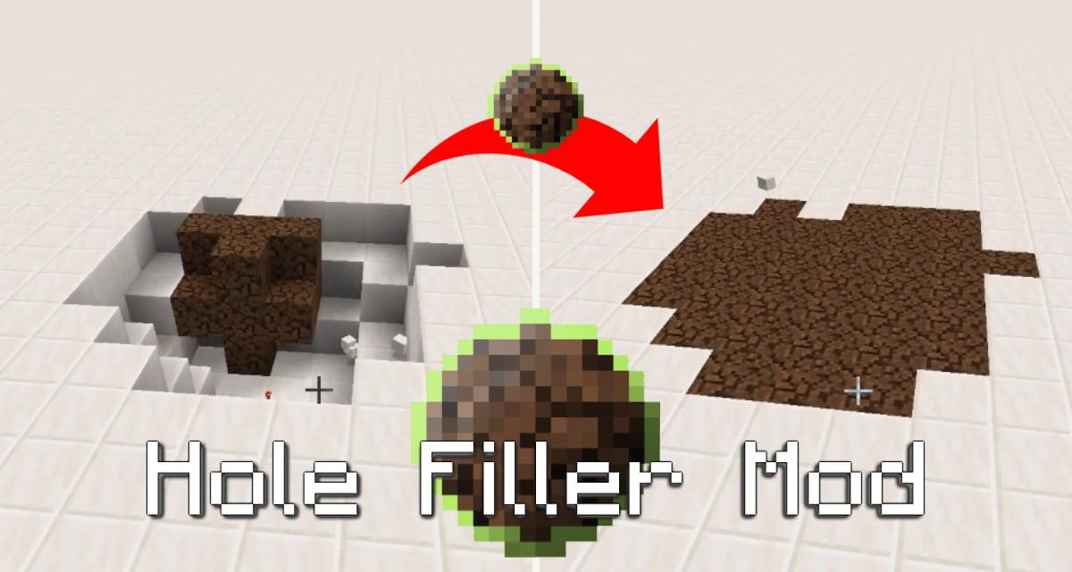 Un mod Minecraft qui rebouche les trous – Hole Filler Mod – 1.12.2 / 1.16.5